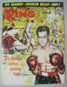 THE RING BOXING MAGAZINE February 1968 VICTOR MIKUS COVER CLAY MUHAMMAD ALI