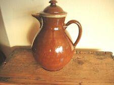 Antike Bunzlau große Kaffeekanne Keramik gemarkt KBK 3  Pure Country