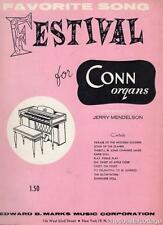 Favorite Song Festival For Conn Organs Vintage Sheet Music ARR Jerry Mendelson
