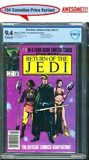 STAR WARS RETURN OF THE JEDI #1 75 CENT CANADIAN PRICE VARIANT CBCS 9.4 NM @35¢