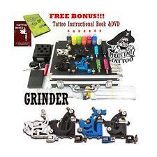 GRINDER Tattoo Kit by Pirate Face Tattoo / 4 Tattoo Machine Guns - Power Supp...
