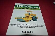 Sakai SV70 Vibrating Roller Dealer's Brochure DCPA6