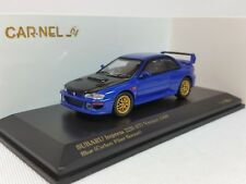 1:64 Kyosho CAR.NEL Subaru Impreza 22B STi 1998 WRX Blue/Carbon Bonnet 999 pcs