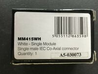 Click MM415WH Single Male Co-Axial TV Module - New & Boxed