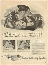 1944 Vintage ad Mum deodorant`Cosmetic Couple Soldier  Art WWII era    (040219)