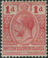 Solomon Islands 1913 SG19 1d red KGV MLH