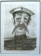 ANATOLI KAPLAN Signed & Framed Print, Portrait of Tsarist Army Officer