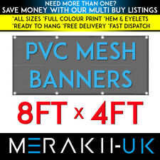 8ft x 4ft MESH PVC PERSONALISED Banner Outdoor Vinyl Advertising Sign NEW