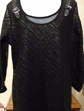 Picadilly Sexy Black Lined Women's blouse NWT Large 99.00 Retail