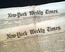 (7) AMERICAN CIVIL WAR ERA Battles New York City 1861 Old Original Newspapers