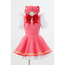 Cardcaptor Sakura kinomoto sakura cosplay costume Magical pink dress +hat+ wings