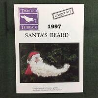 Twisted Threads Santa's Beard Cross Stitch Kit Unique 1997 Santa Christmas New