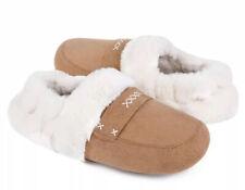 Femmes Polaire Doublé Mules Pantoufles Femme Sabots Comfy doux chaud hiver Chaussure £ 5