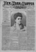 NEW YORK CLIPPER AMERICAN SPORTING AND THEATRICAL JOURNAL CRICKET BUFFALO BILL