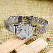 Unisex Sport Women's Men's Stainless Steel Watches Retro Quartz Wrist Watch