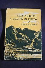 KOREAN WAR 1956 *FIRST*  Snapshots: A Season in Korea