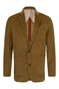 Mens corduroy suit jacket blazer tan chocolate cord tailored vintage retro