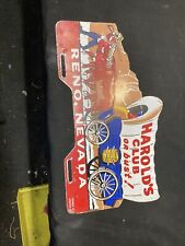1940's 1950's Vintage Accessory HAROLDS CLUB LICENSE PLATE TOPPER BOMB LOWRIDER