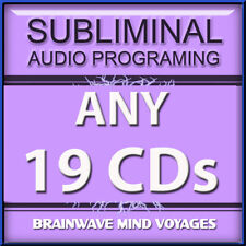 ANY 19 CDs SUBLIMINAL HYPNOSIS DEAL Mind Altering Audio Tunes your Brain Waves!