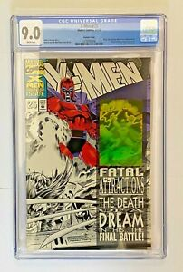 X-Men #25 (B&W holo cover -1993) Magneto tears out Wolverine's adamantium