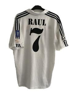 Real Madrid Trikot RAUL 01/03 UCL Weiß Home Adidas Vintage Camiseta Maillot XL
