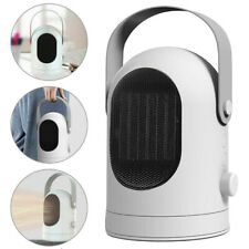 600W Mini Ceramic Electric Heater Home Office Space Heating Portable Fan Silent
