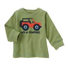 Gymboree Camp Yosemite Jeep Camping Top New NWT Boys 3 6 M buttons orange trip