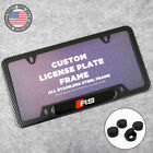 For Audi Rs Front Or Rear Carbon Fiber Texture License Plate Frame Cover Gift