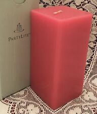 PartyLite Stargazer Lily 3 x 6 Square Pillar Candle K06208 New Floral Retired
