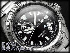 NEW MEN'S SEIKO SUPERIOR 24 JEWEL AUTOMATIC MILITARY ANALOG WATCH SSA091J1
