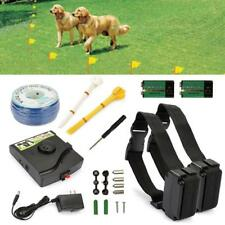 Electronic Fencing In-Ground System Pet Dog Fences Waterproof US Plug for 2 Dogs