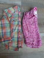 Wrangler Panhandle Girl's Western Leadline Horse Show Rodeo Shirts Size XS
