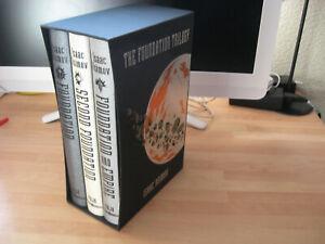 Isaac Asimov The Foundation Trilogy Folio Society slipcased set Second & Empire