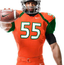 NEW Miami Hurricanes Nike Authentic Football Jeresey Large Team Issued FREE SHIP