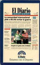 CALENDARIO FOURNIER AÑO 1998 EL DIARIO