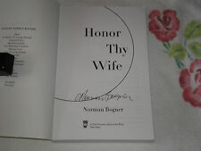 HONOR THY WIFE by NORMAN BOGNER   *Signed*  -ARC- -JA-