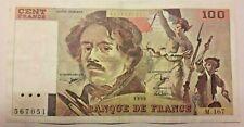France, 100 Francs, 100 F 1978-1995 ''Delacroix'', 1990, TTB+