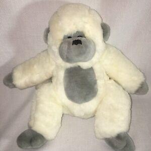 Vintage White Gorilla Plush Monkey Ape Stuffed Animal Chrisha Playful Plush