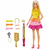 Barbie GBK24 Ultimate Curls Doll Playset and Accessories, Blonde