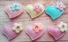 10x PADDED APPLIQUE  Heart Mixed , sewing, Embellishments, scrapbooking