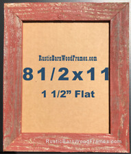 """8 1/2 x 11"""" RED rustic barn document distressed photo frame upcycled wood"""