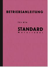 Standard 350-1000 ccm Modelle 27-32 Motorrad Bedienungsanleitung Handbuch Manual