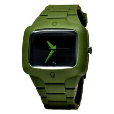 Nixon Rubber Player Army Green Black Dial Silicone Quartz Men's Watch A1391042