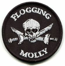 FLOGGING MOLLY skull & swords EMBROIDERED PATCH **FREE SHIPPING** c p0732 pirate