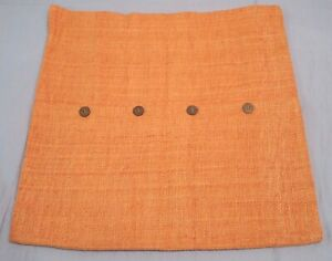 """West Elm Apricot Hand-Loomed Silk 20"""" Pillow Cover"""
