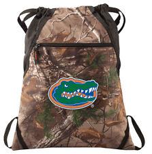 Florida Gators Camo Cinch Pack REALTREE University of Florida Drawstring Bag