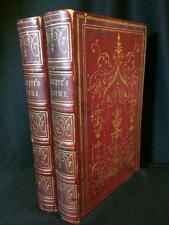 OLD WEST GOLD RUSH ERA WILLIAM COWPER FINE BINDING POETRY TWO VOLUMES RARE SET