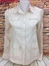 GARFIELD & MARKS Womens Four Pocket Safari Shirt Jacket Button Down Blouse Sz 0