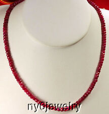 Timeless! Natural Red Ruby Beads Different length necklace*
