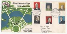 1975 AUSTRALIA First Day Cover SYDNEY To LONDON Prime Ministers